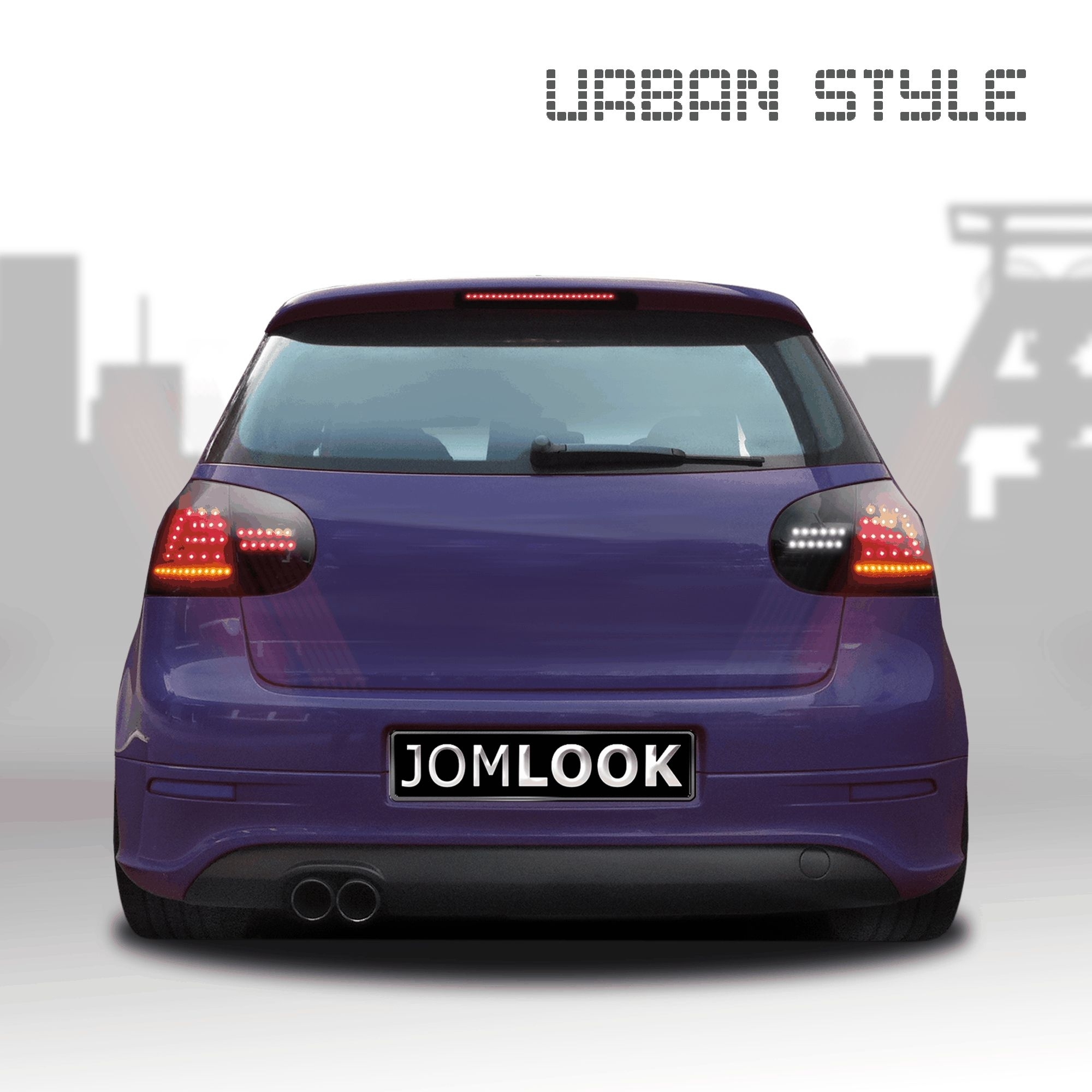 feux arri re led urbanstyle golf 5 03 08 compl tement noir. Black Bedroom Furniture Sets. Home Design Ideas