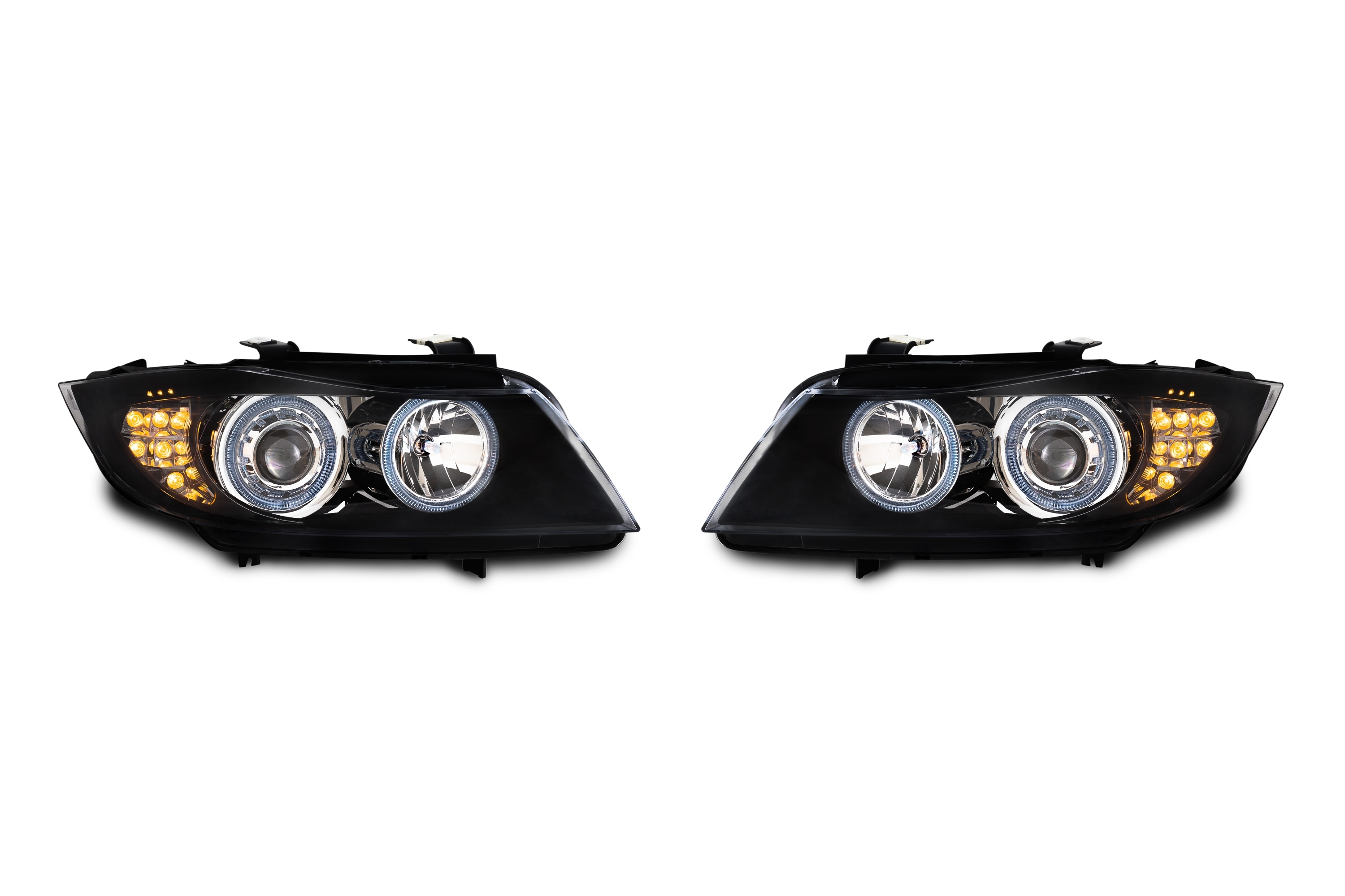 Bmw E90 Indicator >> AE-Design Headlights with halogen rings and LED indicator suitable for BMW 3 series E90 ...