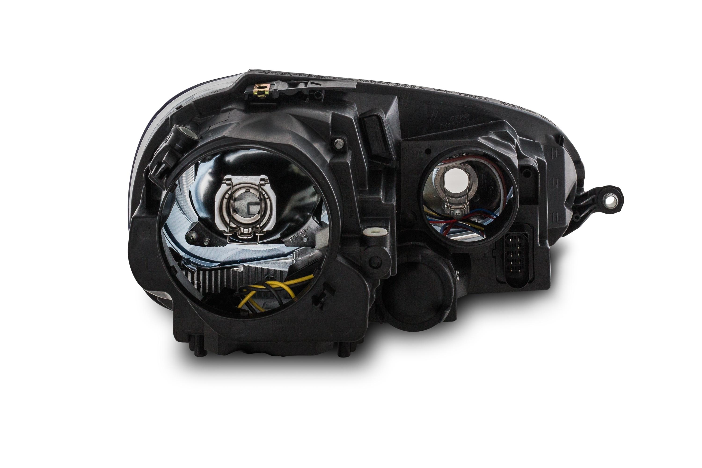 scheinwerfer in xenon optik schwarz passend f r vw golf 5. Black Bedroom Furniture Sets. Home Design Ideas
