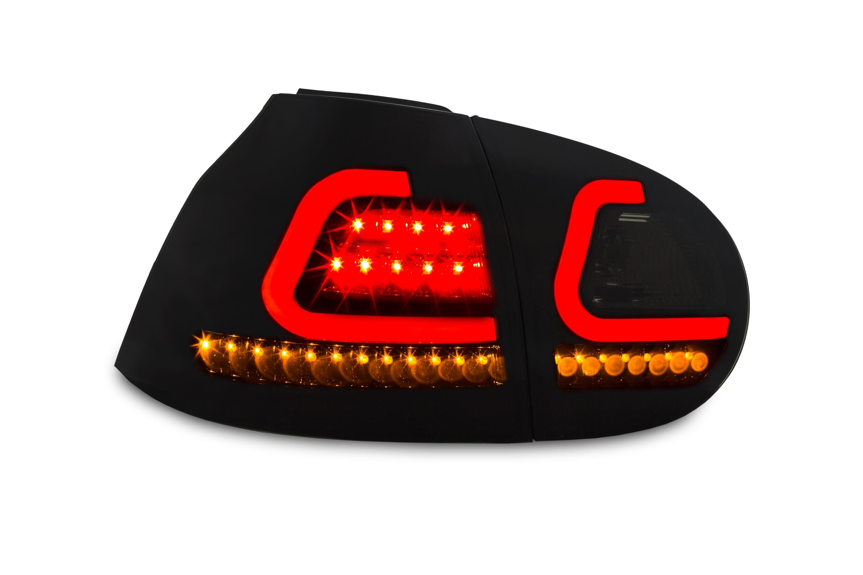 feux arri res vw golf 5 lightbar 03 08 noir sombre clignotants led dynamique. Black Bedroom Furniture Sets. Home Design Ideas