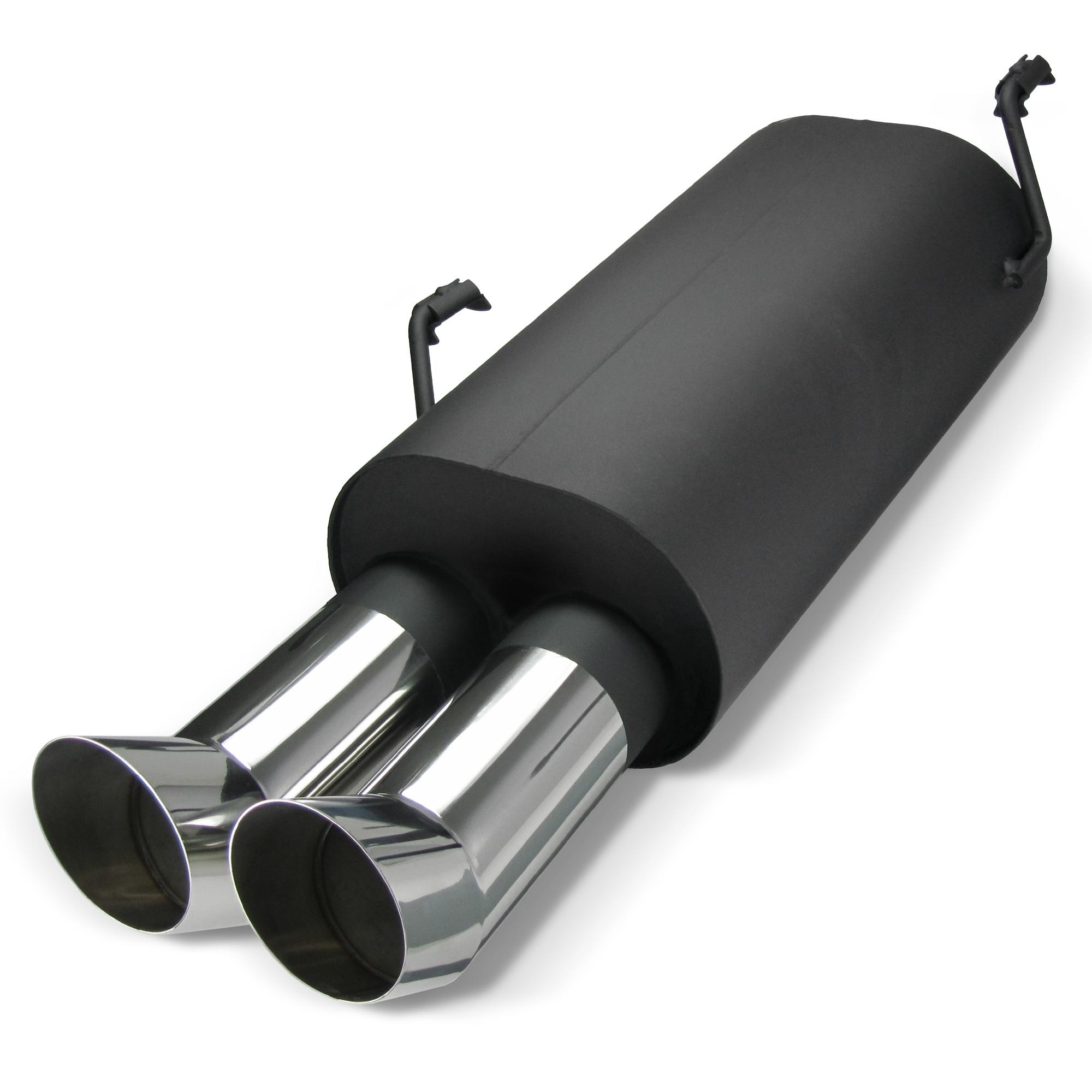 JOM 89036 Stahl-Endschalld/ämpfer mit 2X 76mm DTM-Look Endrohren
