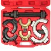 Coil spring compressors set, strut compressor set, 8- part steel case for nib sizes diameter of 80-195 mm, fits only for MacPherson spring compressors