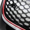 Kühlergrill ohne Emblem, Wabengitter in schwarz mit roter Umrandung passend für VW Golf 5