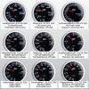 Manomètre, pression d'essence, noir, échelle à LED blanc, fonction veilleuse, Ø52mm