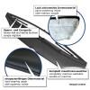 Hauben-Bra, Steinschlagschutz-Maske, Kunstleder, schwarz passend für VW Golf 5 GTI (04-08)