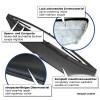 Hauben-Bra, Steinschlagschutz-Maske, Kunstleder, schwarz passend für VW Scirocco (08-11)