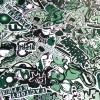 Stylingfolie im Sticker-Design,152 x 200 cm, StickerAlarm Grün, Profifolie mit Luftkanälen und UV-Beschichtung, PVC