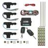 Zentralverriegelung, Komplett Set, 4-türig, incl. 2 Klappschlüssel mit Funk, 4 Stellmotoren passend für universal