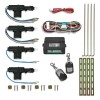 Central locking system, universal with 2 mini radio remote controls, 4 motors