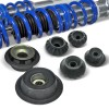 BlueLine Coilover Kit with Domcap Set suitable for VW Golf 3, Vento year 10.91-9.97 (1HXO) and Golf 3 Cabrio (1EXO), except models with four-wheel drive or Variant models