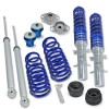 BlueLine Coilover Kit with Domcap Set suitable for VW Golf 4, Golf 4 Bora and Variant (1J) year 1997 - 2006, except vehicles with four-wheel drive