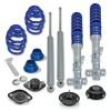BlueLine Gewindefahrwerk mit Domlagersatz passend für BMW E36 4 und 6 Zylinder, sowie Touring-Modelle, Baujahr 06.1992-2000