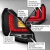 LED Lightbar Rückleuchten Klarglas schwarz passend für Ford Fiesta (Typ JA8) ab Bj. 2008