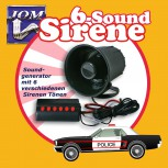Fanfare, Sirene, Soundgenerator mit 6 Sirenen-Variationen (12V)