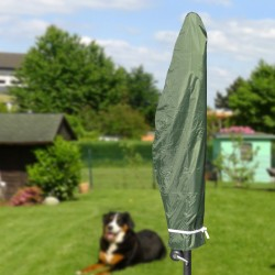Schutzhülle für Ampelschirm, Sonnenschirme, grün,bis 350 cm Durchmesser, incl. Reißverschluss , wetterfeste Sonnenschirmhülle