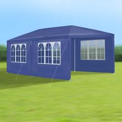 Gartenpavillon 3 x 6 m, blau, Pavillon, Pavillion, Partyzelt, Festzelt, Gartenzelt, mit 6 Seitenwänden 110G PE