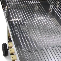 Edelstahl Barbecue Holzkohle Grill Grillwagen BBQ 136 x 60 x 93 cm Mega XXL