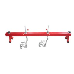 Transverse eingine support, red, made of steel, max. load 500kg