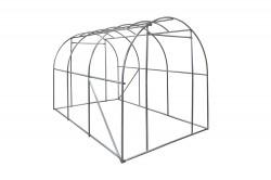 Gewächshaus 6m² Foliengewächshaus Treibhaus Tomatenhaus Pflanzhaus Frühbeet PE Folie 175gr/ m² verstärkt mit Gitternetz