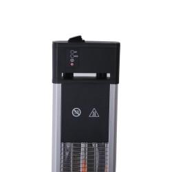 Standheizstrahler Infraotstrahler Terassenstrahler Edelstahl Höhe 110 cm 3 Heizstufen mit Fernbedienung 1600 Watt IP55