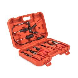 JOM Coffret Jeu de Pinces 9 pièces pour colliers de serrage réparation garage atelier bricolage  réparation outil kit + coffret.