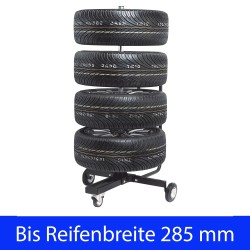 "Wheel tree tyre storage stand rim storage tire holder, foldable, rack car motorcycle, max. Rim Diameter 18"", max tyre wide 285mm"