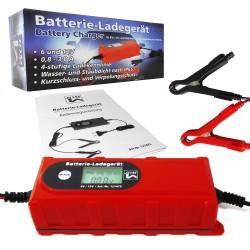 Car and Motorcycle 3,8 Amp 6/12V smart battery charger, 230V / 50Hz, IP65