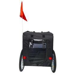 Fahrradanhänger Hundeanhänger Lastenanhänger Tier Anhänger Fahrrad Hunde schwarz  weiss incl. Regenschutz