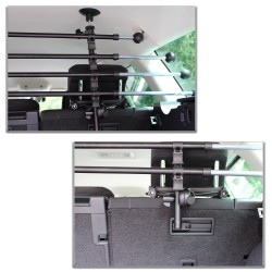 Gepäckraumgitter Kofferraum Universal Teleskopstangen Trenngitter für Hunde Auto , SUV Schutzgitter Hundegitter für den sicheren Transport