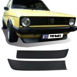 Frontspoilerlippe passend für VW Golf 1 Typ: 17  Bj. 1974-1983, VW Golf 1 Cabrio Typ: 155  Bj. bis -12/1989 (nicht für Karmann Cabrio!) , VW Jetta 1 Typ: 16  Bj. bis -02/1994, VW Caddy 1 Typ: 14  Bj: bis -07/1992