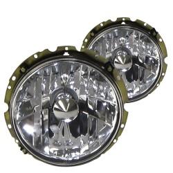 Scheinwerfer  Klarglas, Chrom passend für VW Golf 1