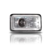Seitenblinker, Klarglas / chrom passend für VW Golf 1-2 Bj. -9/91, Polo Bj. -94, Audi (80/90/100/200), Porsche