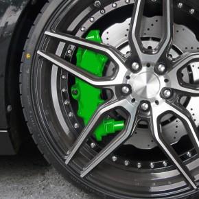Bremssattellack, Bremssattel Lackier- Set, grün, 1K-System, Bremssattellack 75ml, Bremsenreiniger 250ml, Pinsel und Handschuhe
