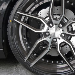 Bremssattellack, Bremssattel Lackier- Set, schwarz, 1K-System, Bremssattellack 75ml, Bremsenreiniger 250ml, Pinsel und Handschuhe