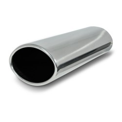 Tailpipe, oval, 120x80mm, 300mm, without absorber, EC approved