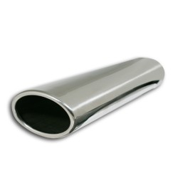 Tailpipe, oval,  85X58mm, 350mm, without absorber, EC approved