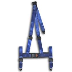 Rennsportgurt mit 3-Punkt Befestigung, blau, mit E-Prüfzeichen