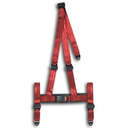 Harness, 3 point, red, E-marked