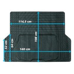 Kofferraummatte,Gummimatte 140 x 108 cm universal zuschneidbar Kofferraumschutz