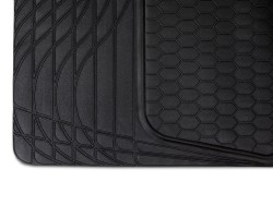 Universal Rear Trunk Boot Liner Cargo Mat Floor Tray, 108 x 140 cm, black