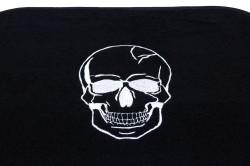 Car mat set, black, white skull