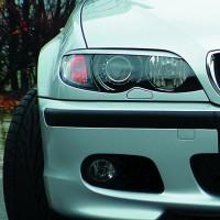 Scheinwerferblenden,böser Blick, ABS Kunststoff passend für BMW E46 Limo Facelift 09.01-