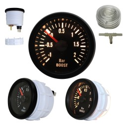 Gauge YoungTimer, boost pressure, black Ø52mm