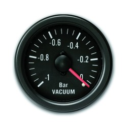 Gauge, vacuum, black, Ø52mm
