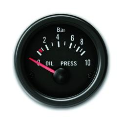 Zusatzinstrument, Youngtimer, Öldruck, schwarz, Ø52mm