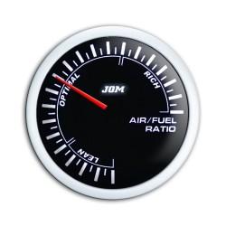 Zusatzinstrument, Noir, Luftverhältnis/ Air- Fuel, schwarz,  mit weißer LED Skala, dimmbar,  Ø52mm