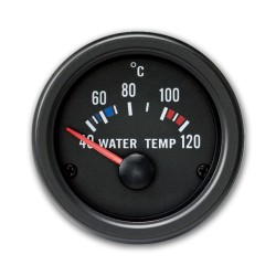 Gauge, water temperature (40~120°C), black, Ø52mm
