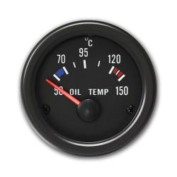 Zusatzinstrument, Youngtimer, Oeltemperatur (50~150°C), schwarz, Ø52mm
