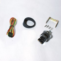 Gauge, fuel pressure, black, white LED scale, dimmable, Ø52mm