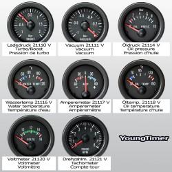 Gauge, RPM gauge, 0~8.000RPM, black, Ø52mm